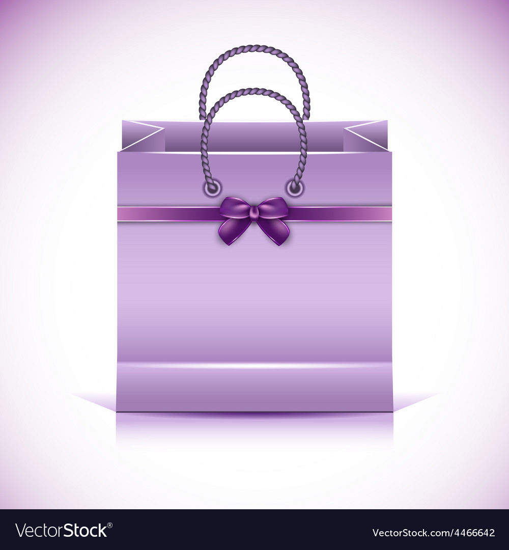 Violet paper shopping bag vector | Price: 3 Credit (USD $3)