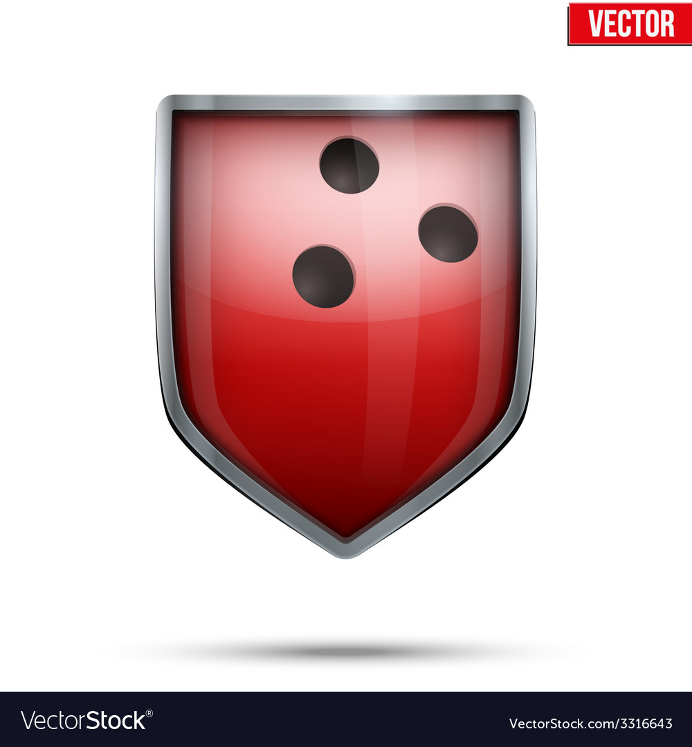 Bright shield in the bowling ball inside vector | Price: 1 Credit (USD $1)