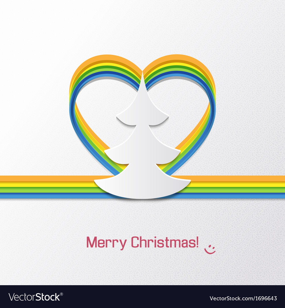 Christmas card with christmas tree vector | Price: 1 Credit (USD $1)
