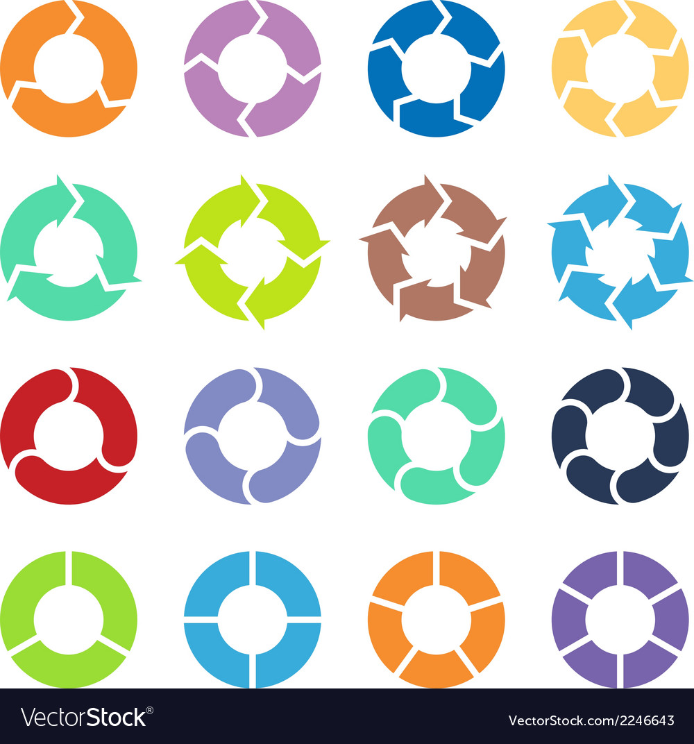 Circle arrows set vector | Price: 1 Credit (USD $1)