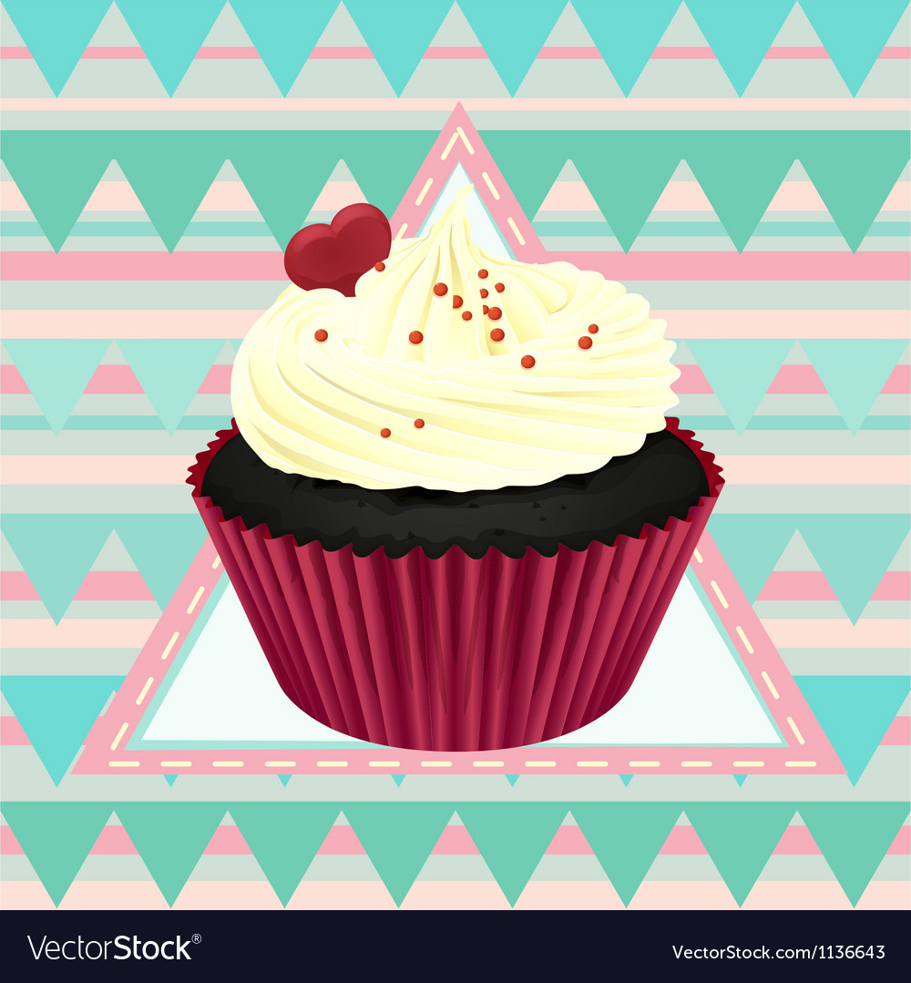 Cupcake and a wallpaper vector | Price: 1 Credit (USD $1)