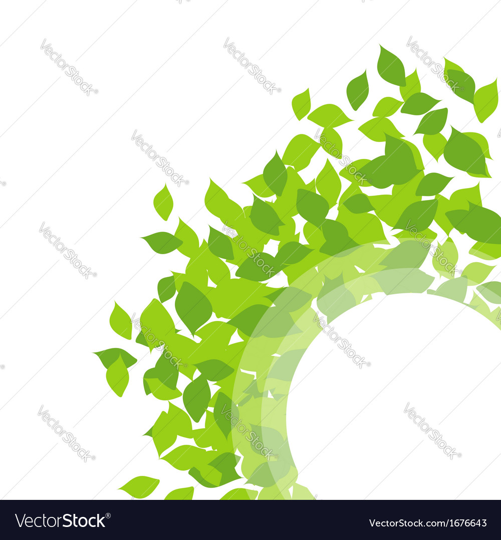 Design element with leaves vector | Price: 1 Credit (USD $1)