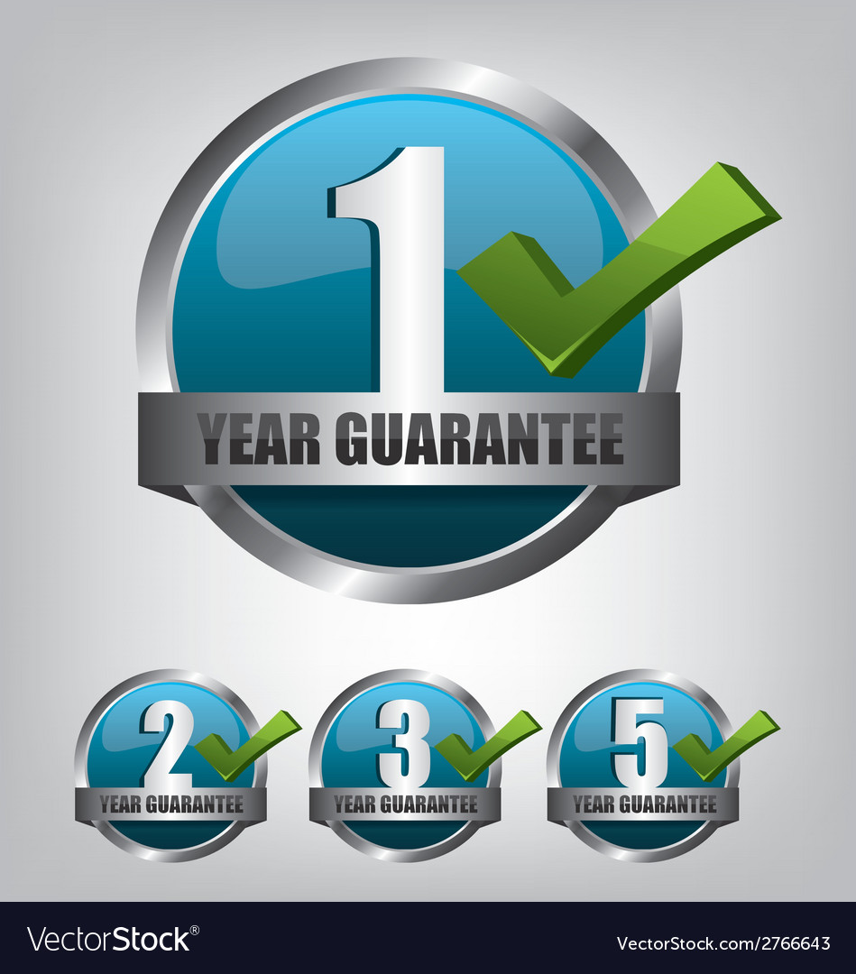 Guarantee label button set vector | Price: 1 Credit (USD $1)