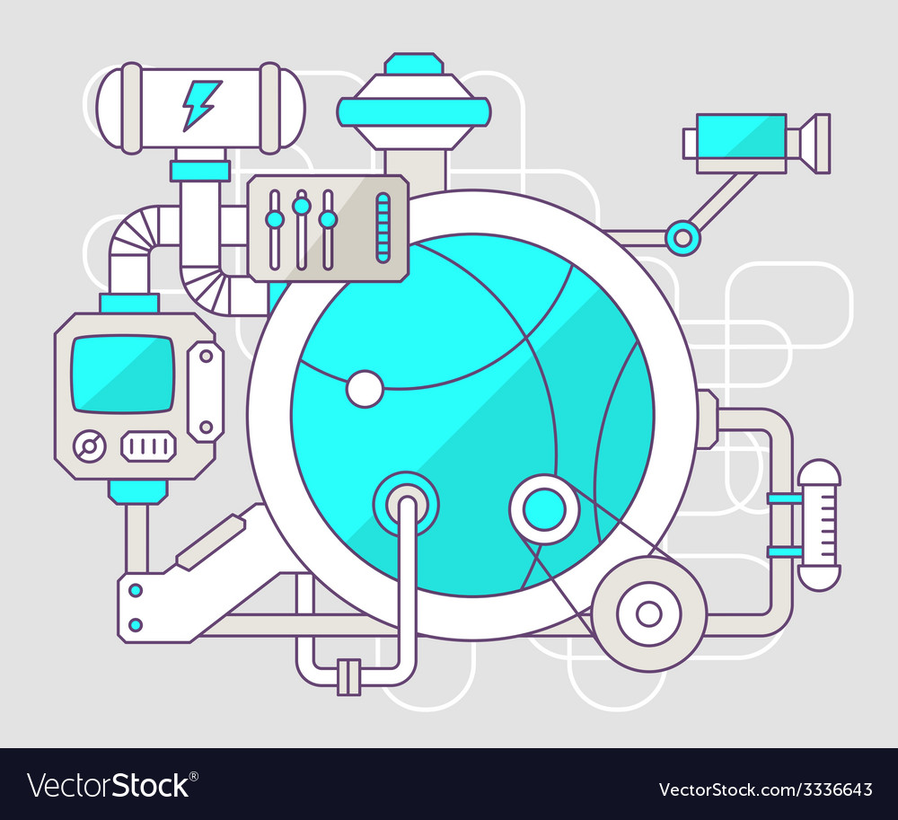 Industrial of the mechanism of ball color l vector   Price: 3 Credit (USD $3)