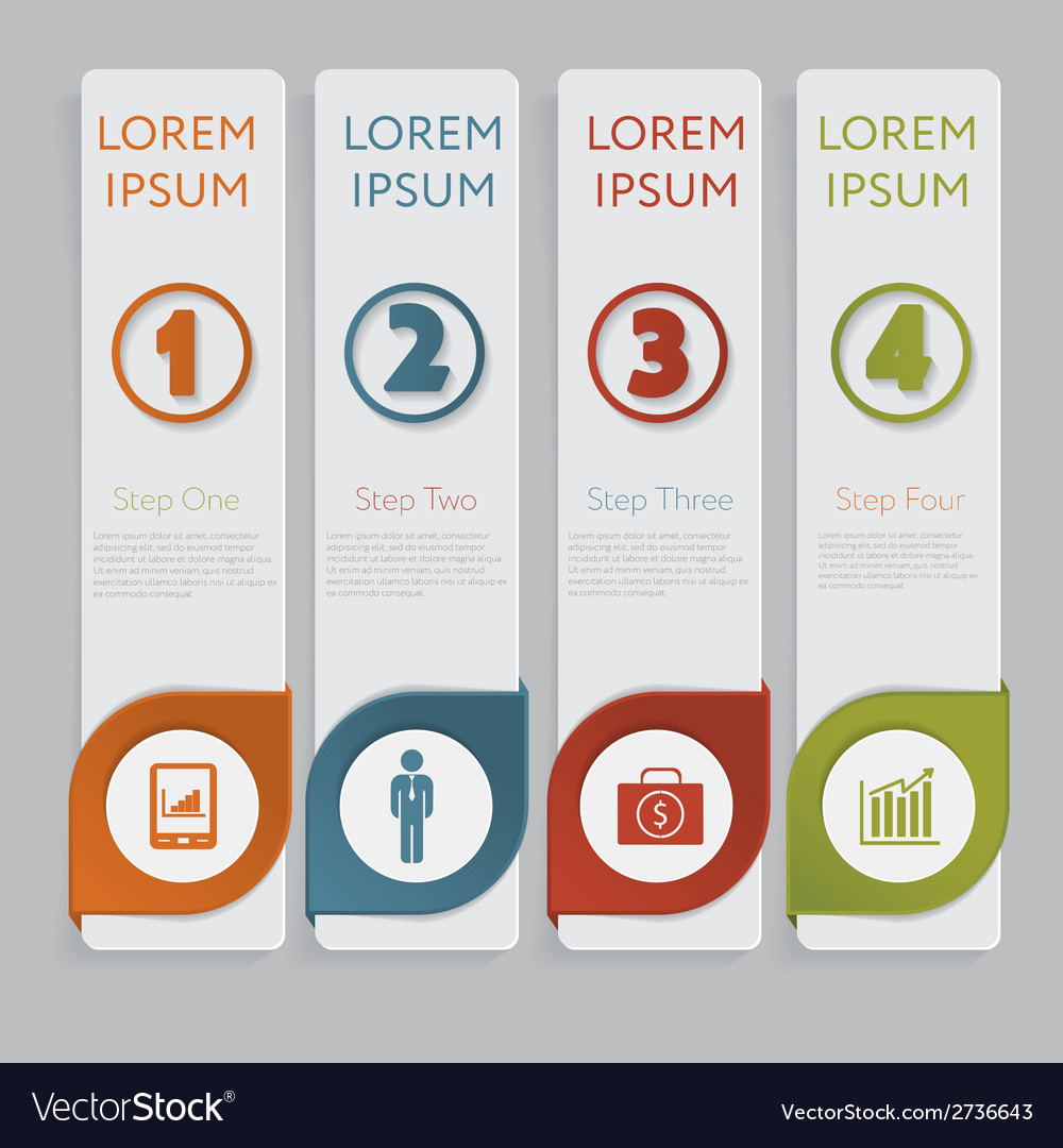 Infographic design number banners template graphic vector   Price: 1 Credit (USD $1)