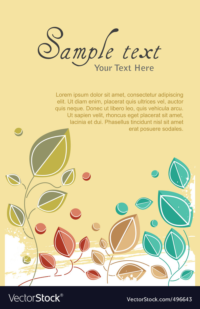 Natural card vector | Price: 1 Credit (USD $1)