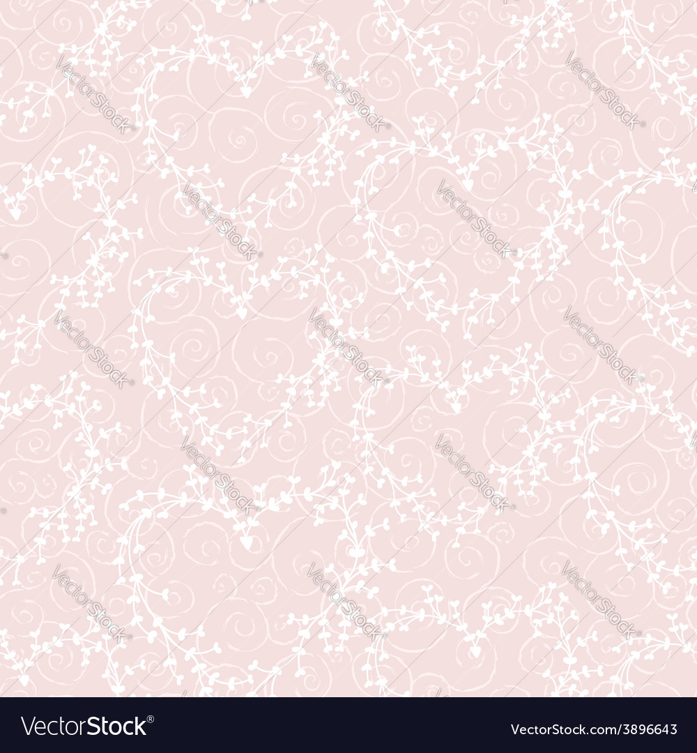 Seamless pattern with wreathes and swirles vector | Price: 1 Credit (USD $1)