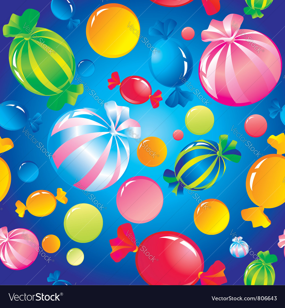 Seamless sweets and sugar candies vector | Price: 1 Credit (USD $1)