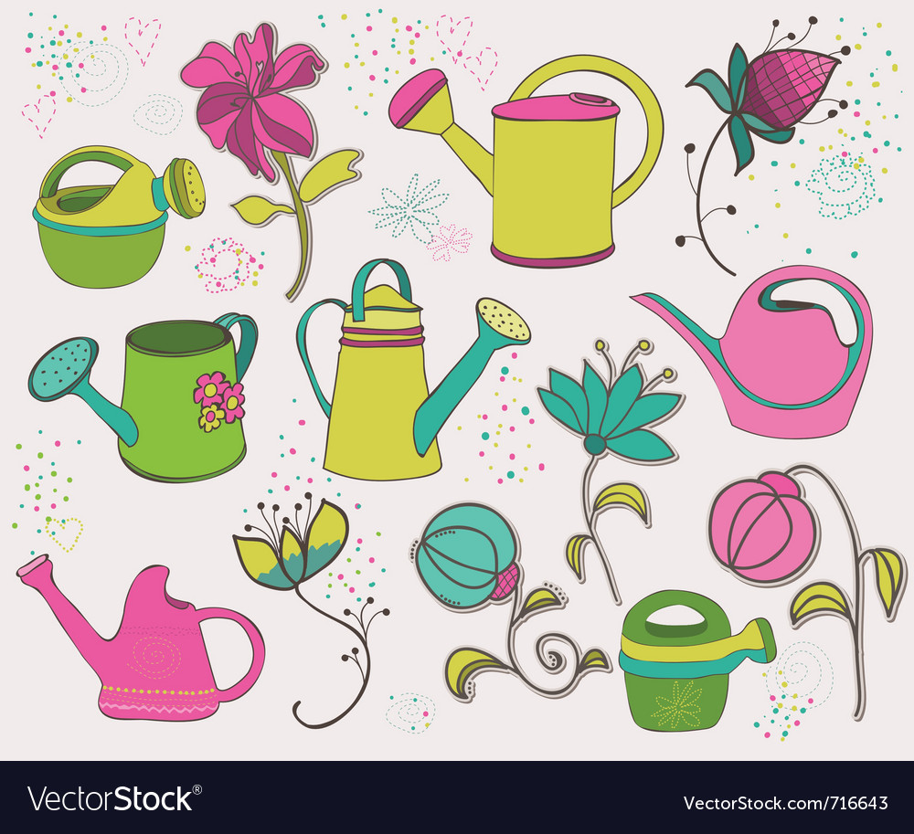 Spring design elements vector | Price: 1 Credit (USD $1)