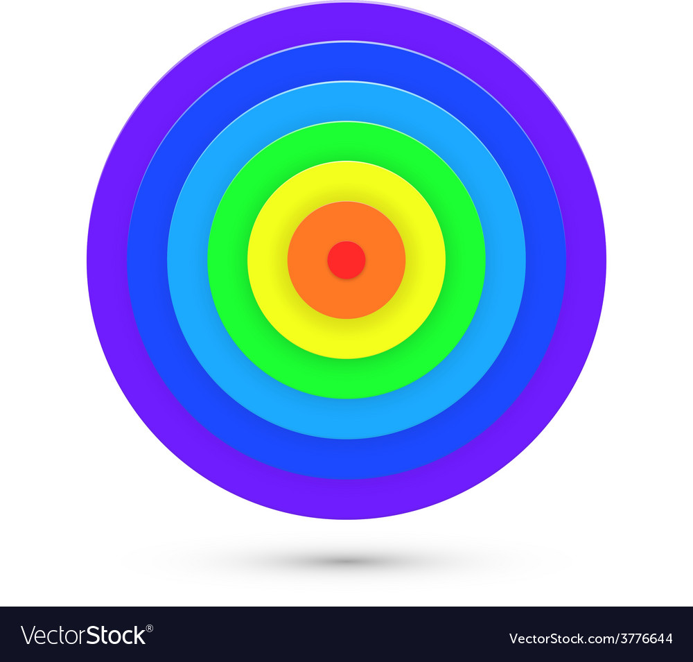 Abstract target background vector | Price: 1 Credit (USD $1)