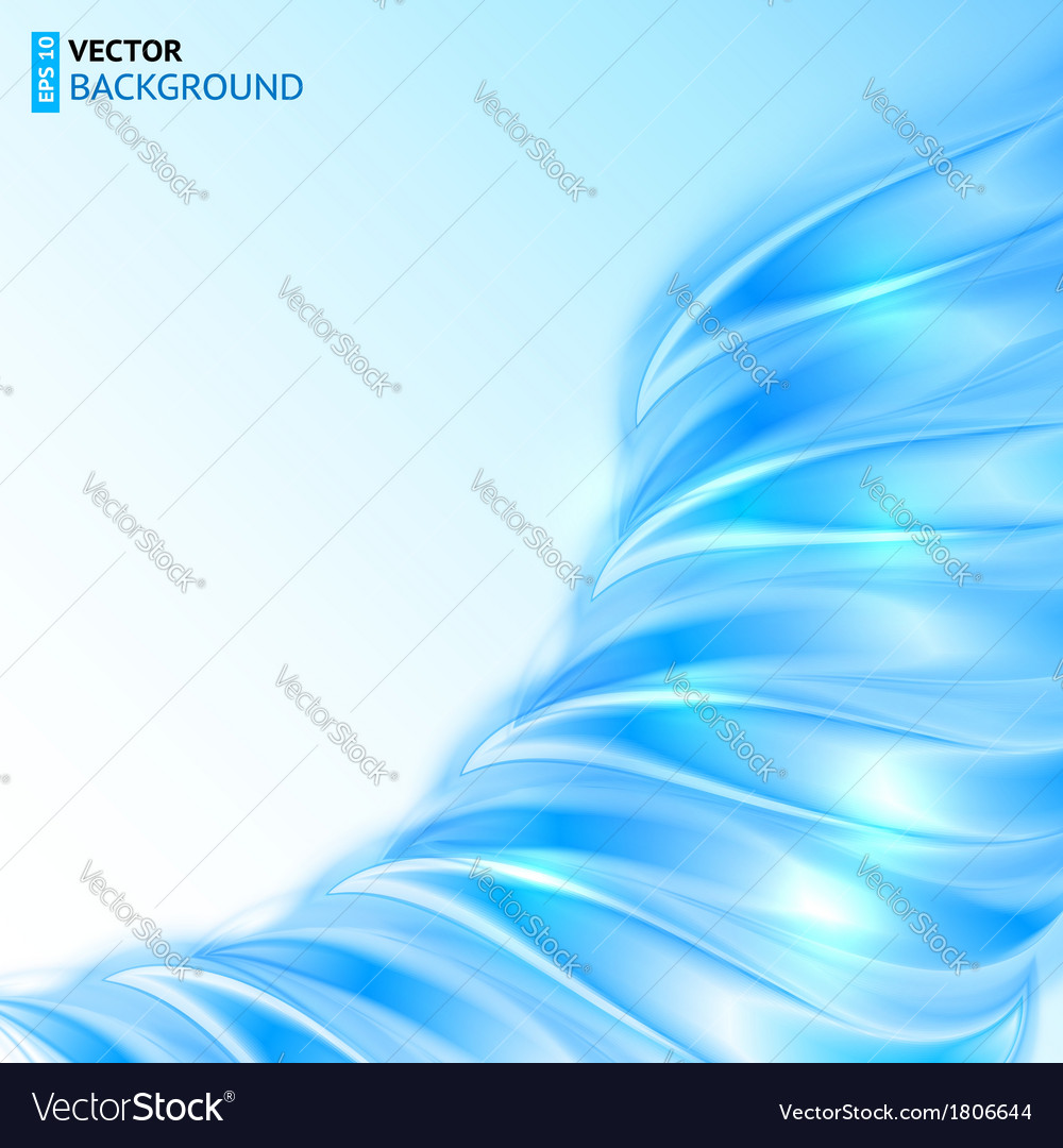 Blue shining wave abstract background vector | Price: 1 Credit (USD $1)