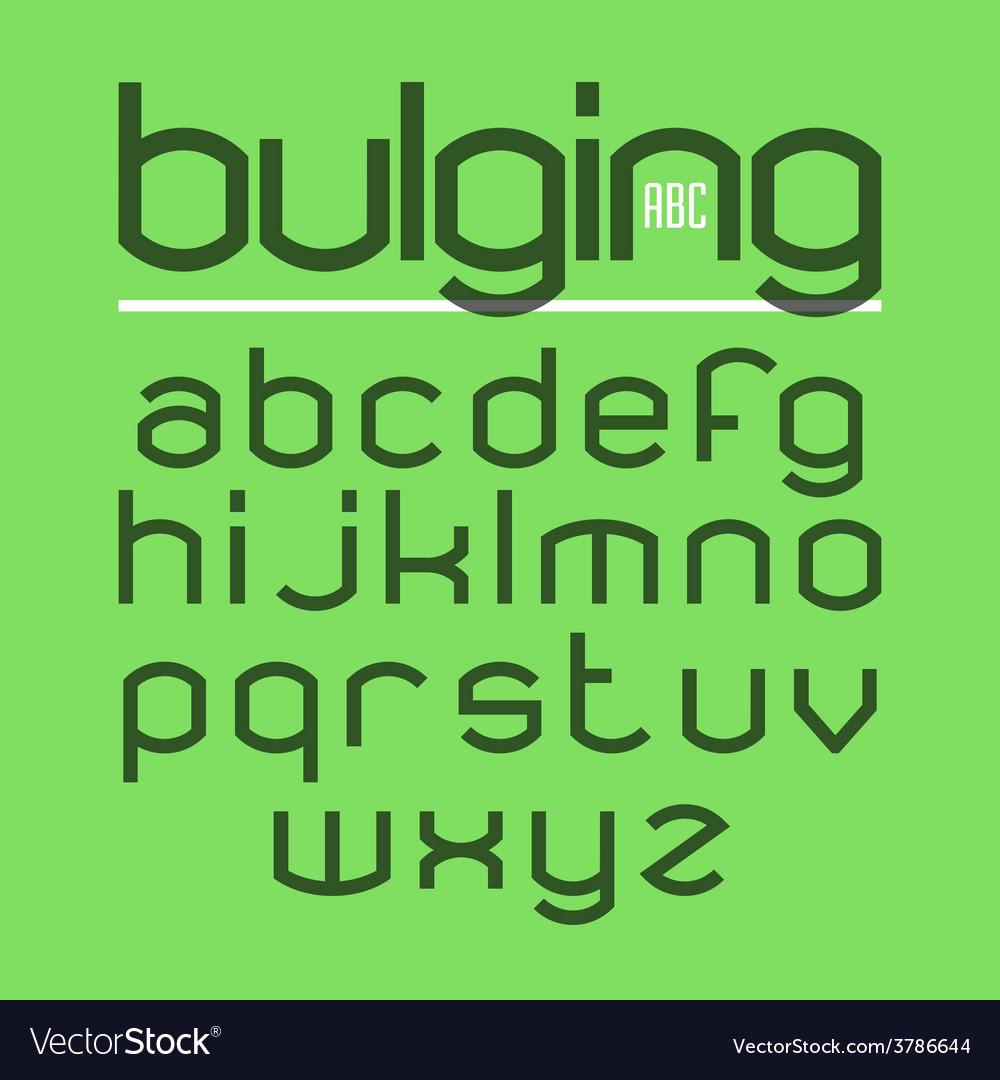 Bulging typeface alphabet vector | Price: 1 Credit (USD $1)