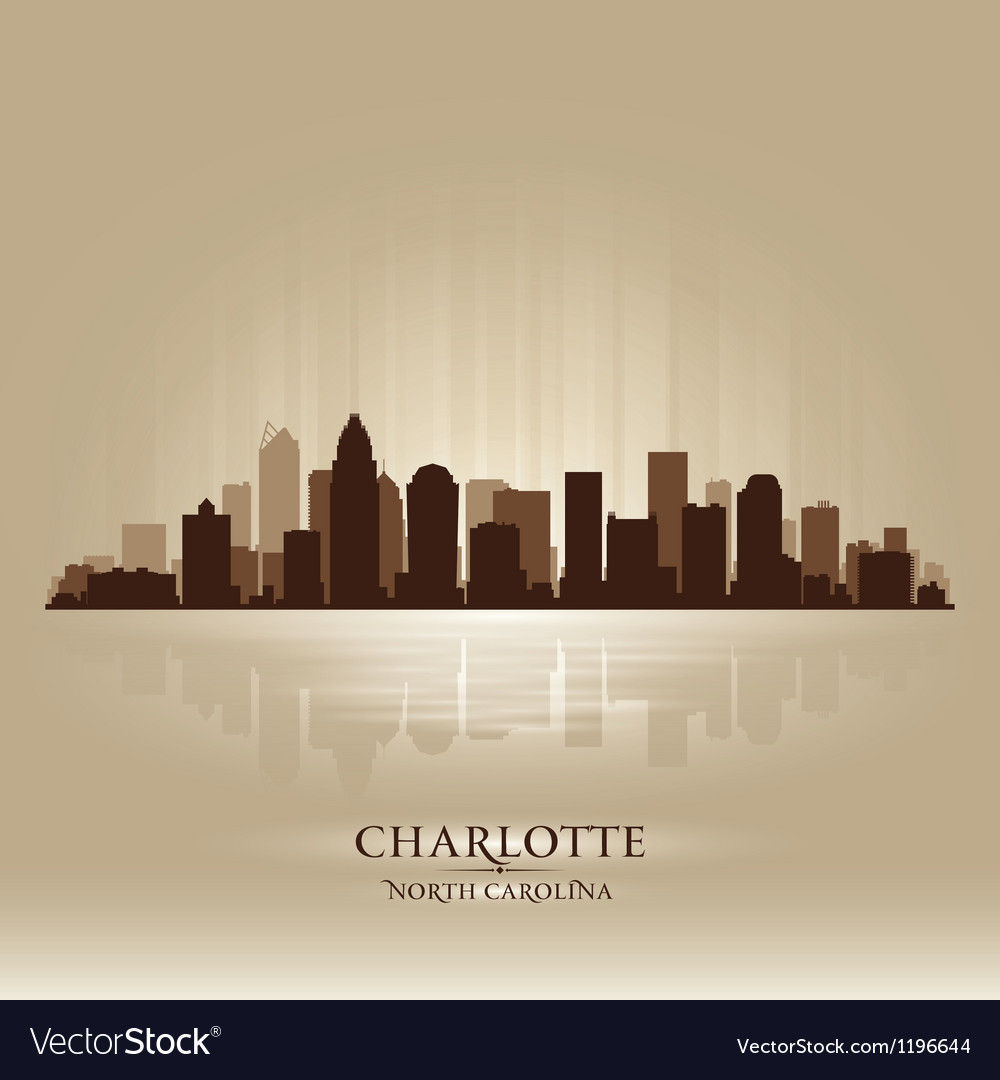 Charlotte north carolina skyline city silhouette vector | Price: 1 Credit (USD $1)