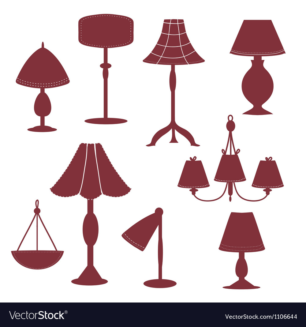 Lams silhouette with patterns vector | Price: 1 Credit (USD $1)