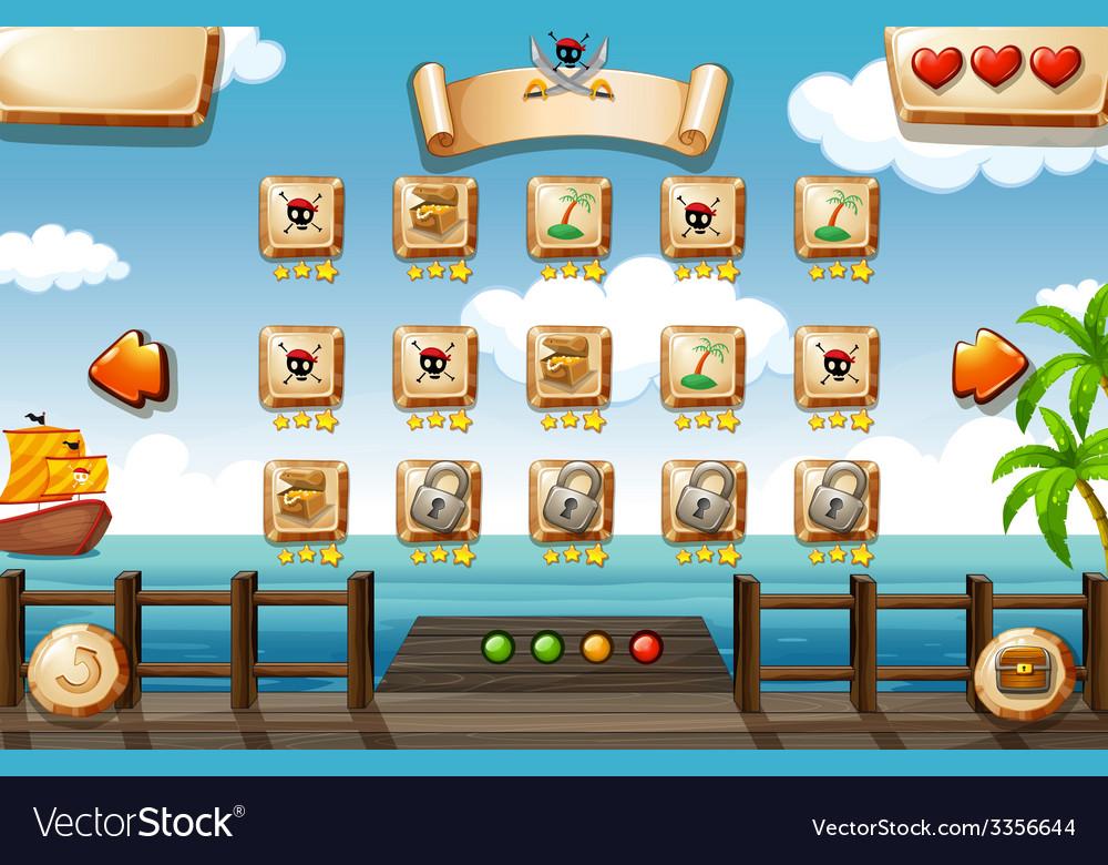 Pirate game vector | Price: 3 Credit (USD $3)
