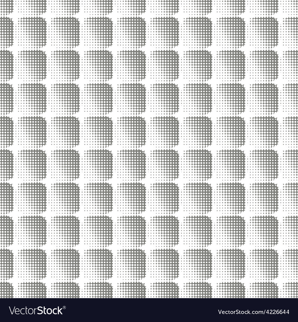 Seamless halftone pattern of squares vector | Price: 1 Credit (USD $1)