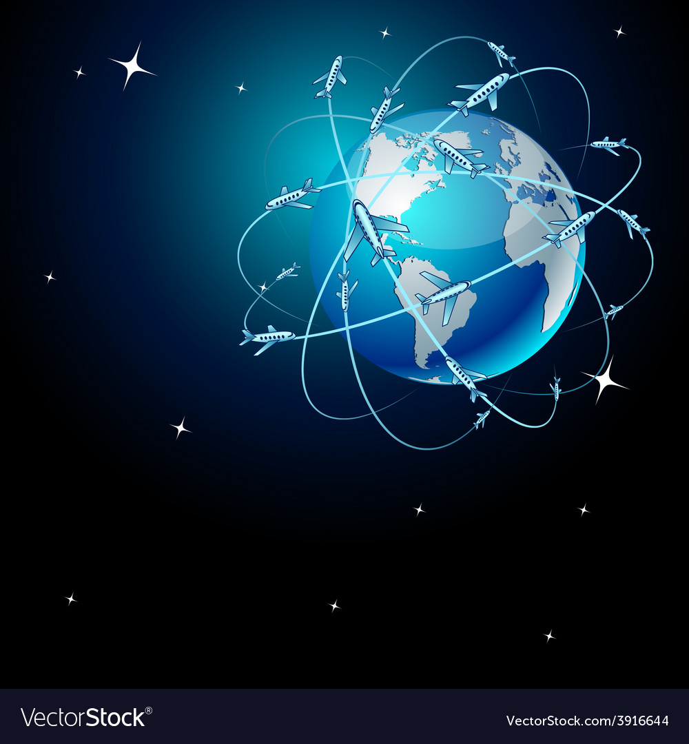 Transportation earth in space vector | Price: 1 Credit (USD $1)