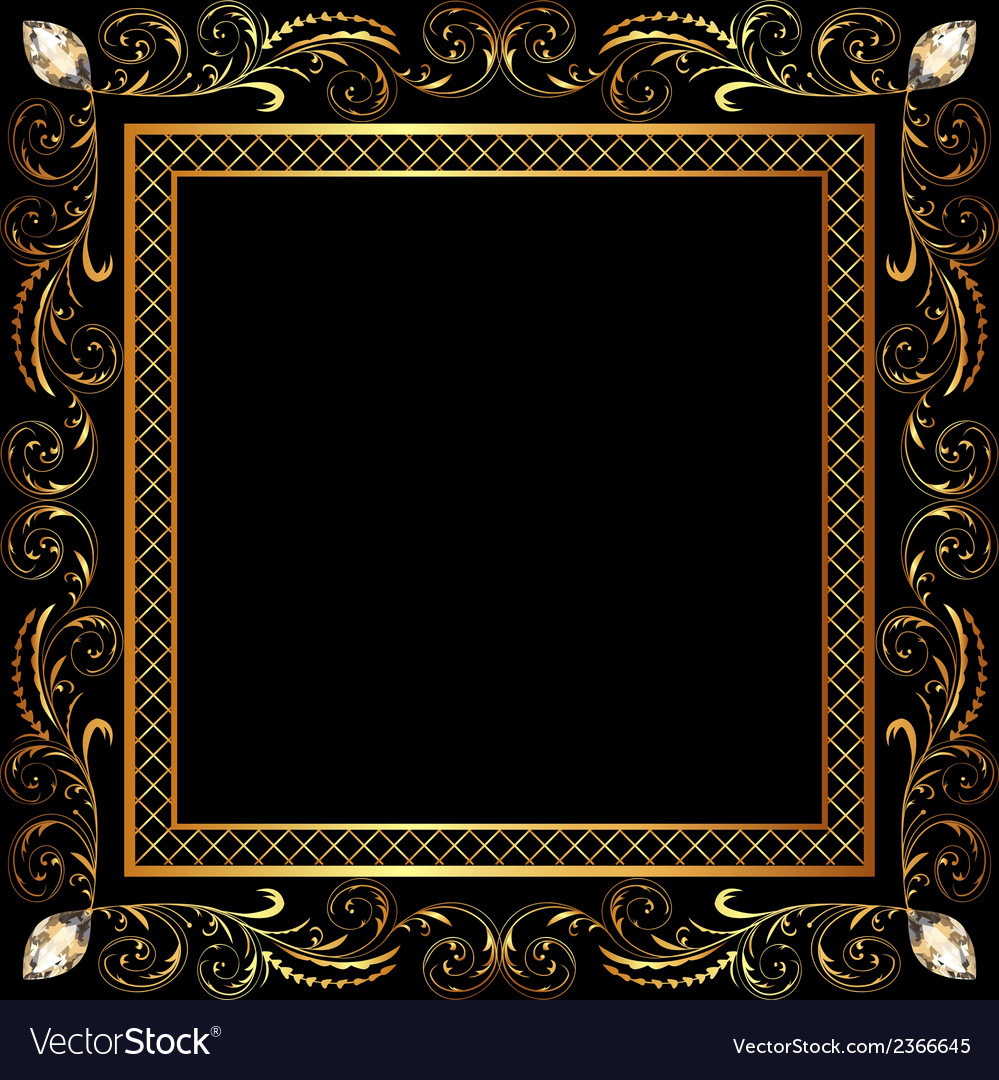 Background frame ornaments vector