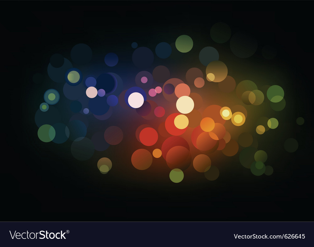 Blurry lights vector | Price: 1 Credit (USD $1)