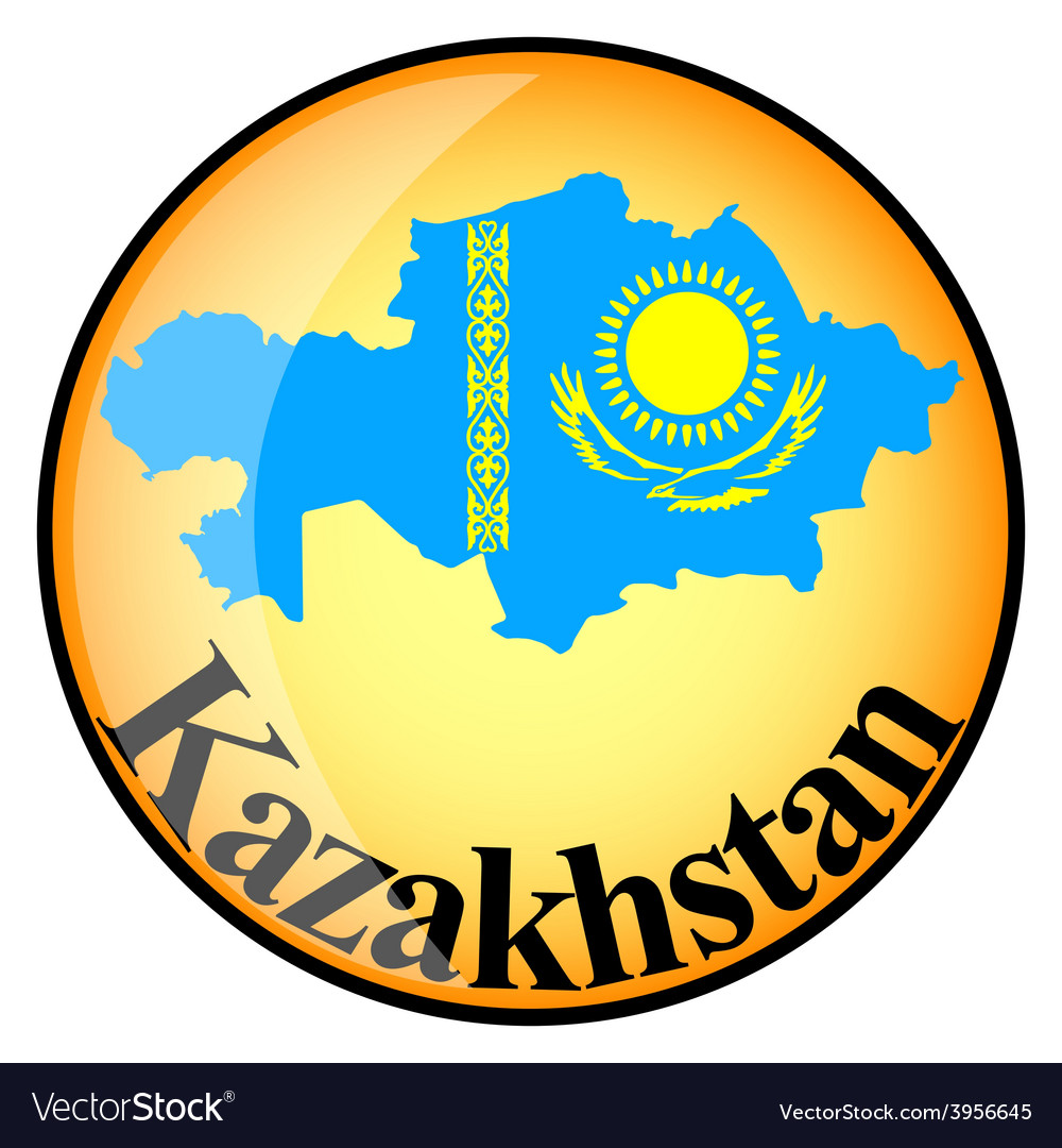 Button kazakhstan vector | Price: 1 Credit (USD $1)