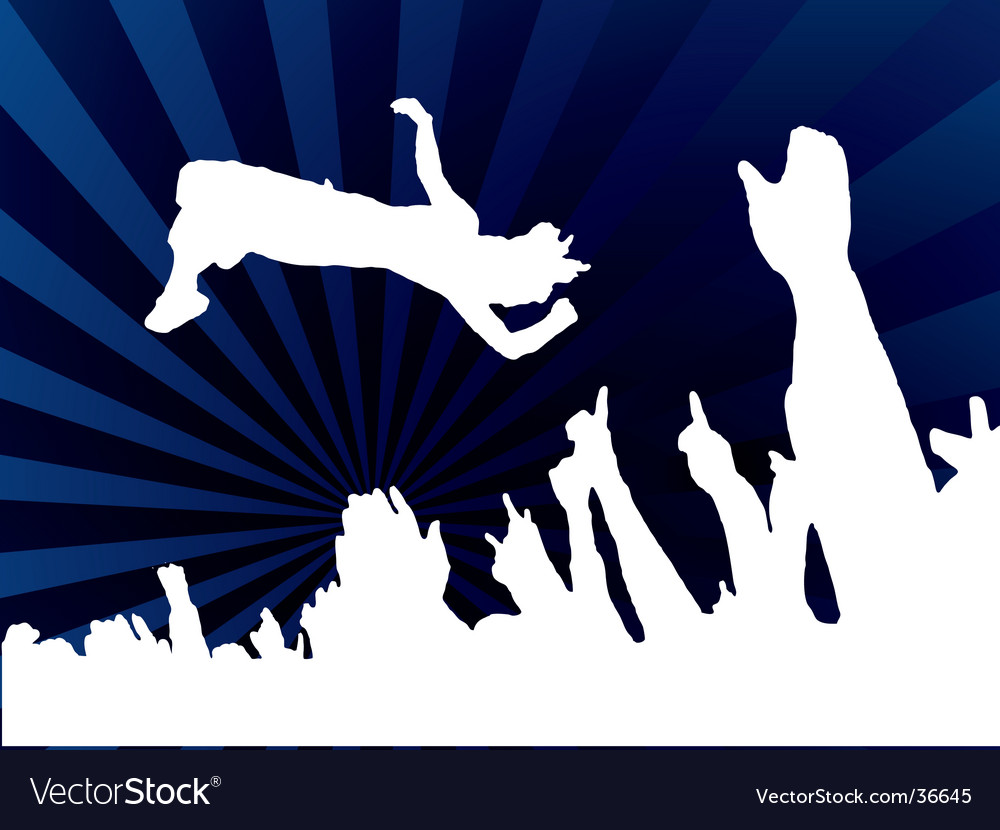 Concert jump blue vector | Price: 1 Credit (USD $1)