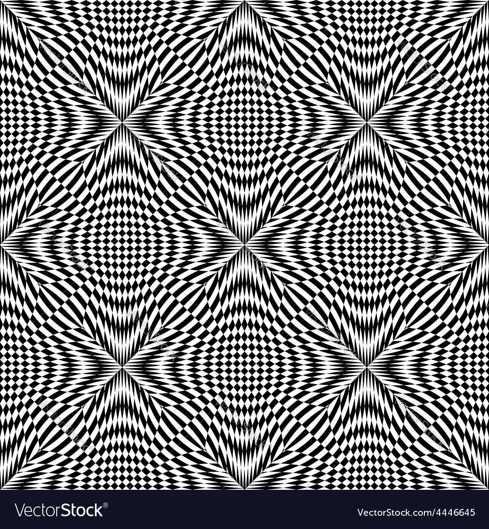 Design seamless monochrome checkered pattern vector | Price: 1 Credit (USD $1)