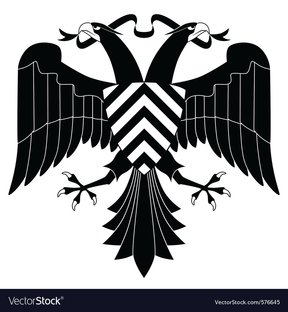 Doubleheaded heraldic eagle vector | Price: 1 Credit (USD $1)