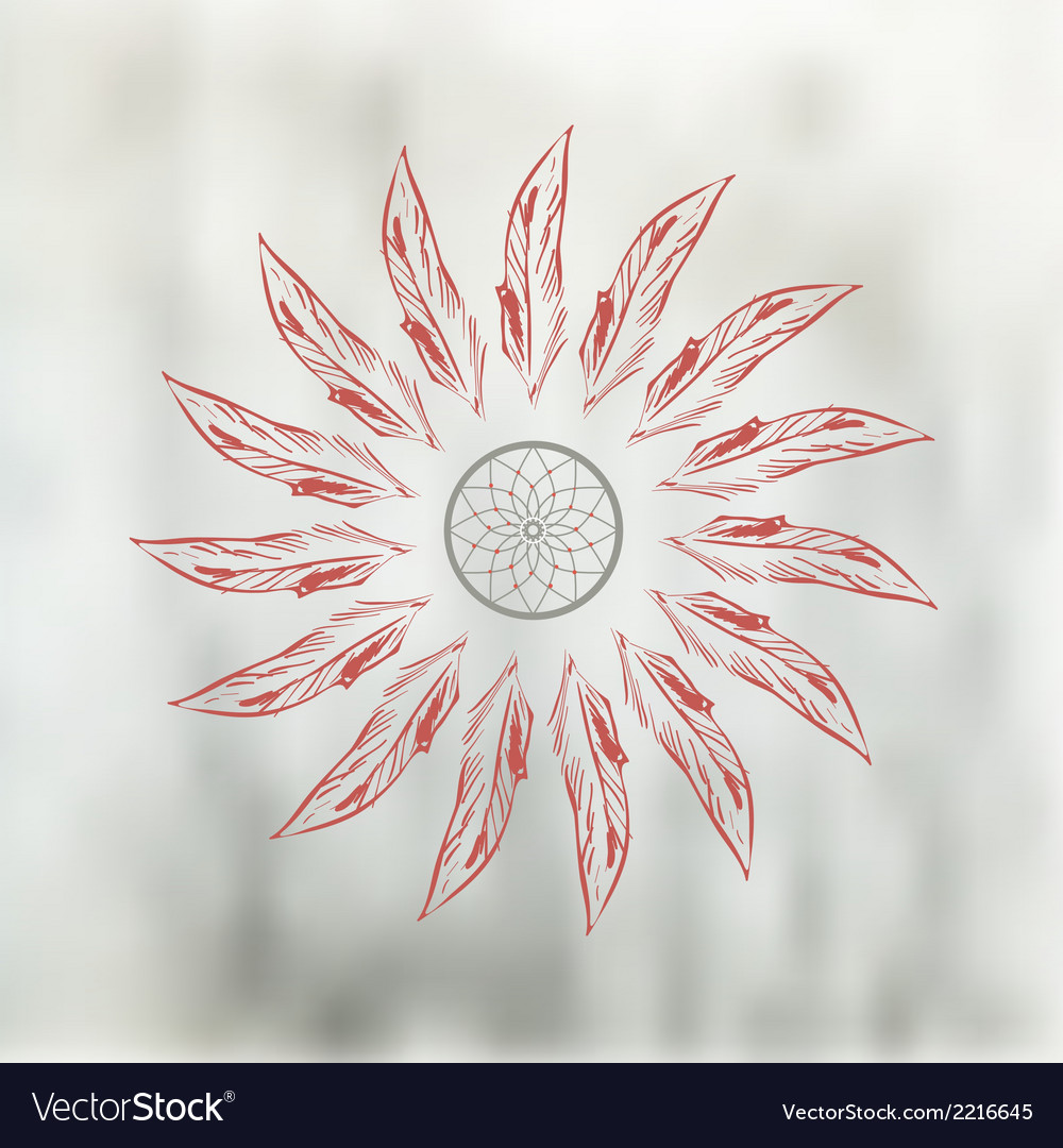 Dreamcatcher vector | Price: 1 Credit (USD $1)