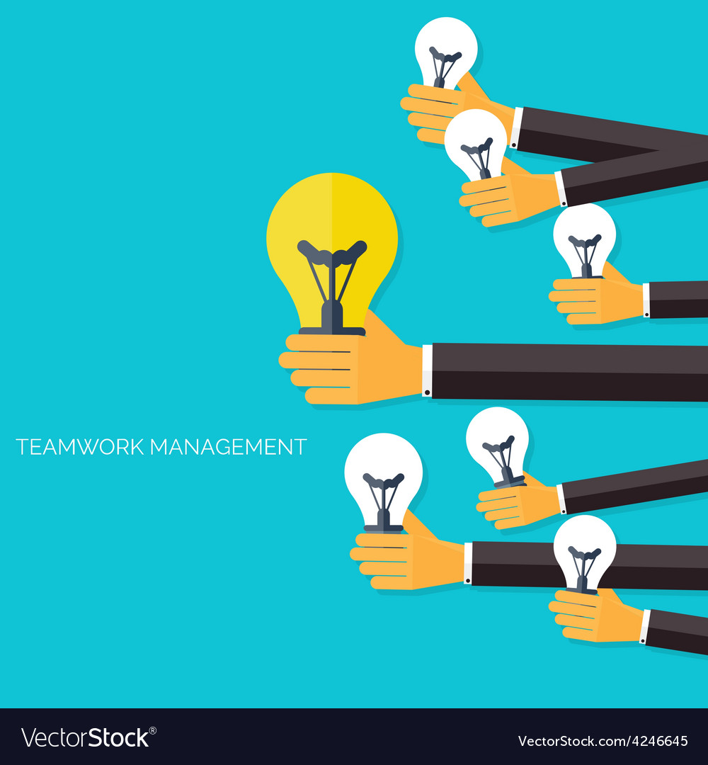 Finding the main idea teamwork management concept vector | Price: 1 Credit (USD $1)