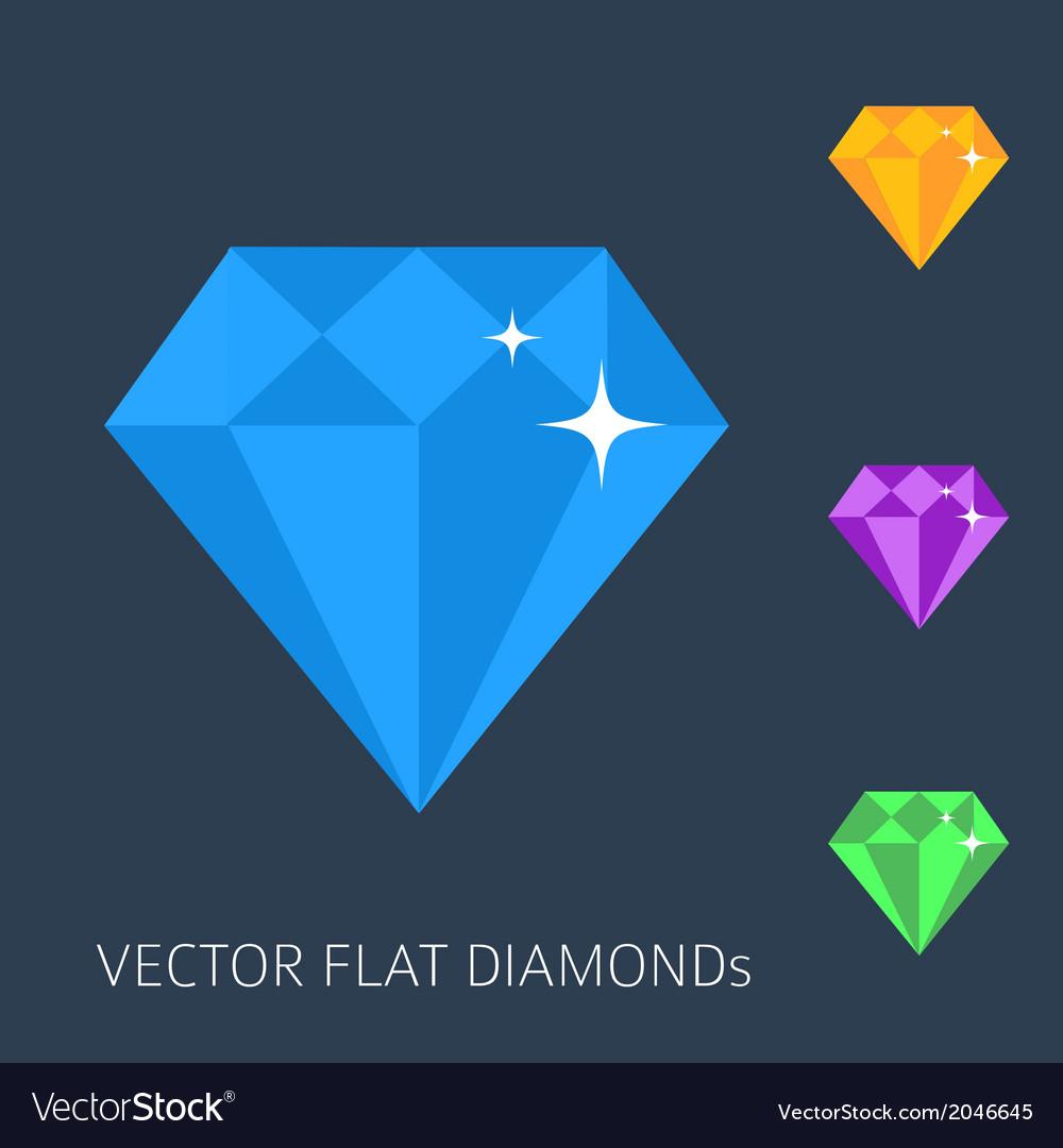 Flat diamonds vector | Price: 1 Credit (USD $1)