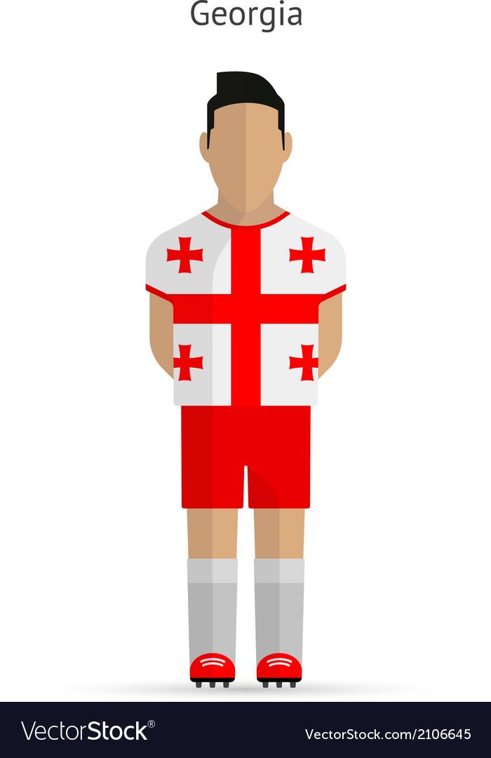 Georgia football player soccer uniform vector | Price: 1 Credit (USD $1)