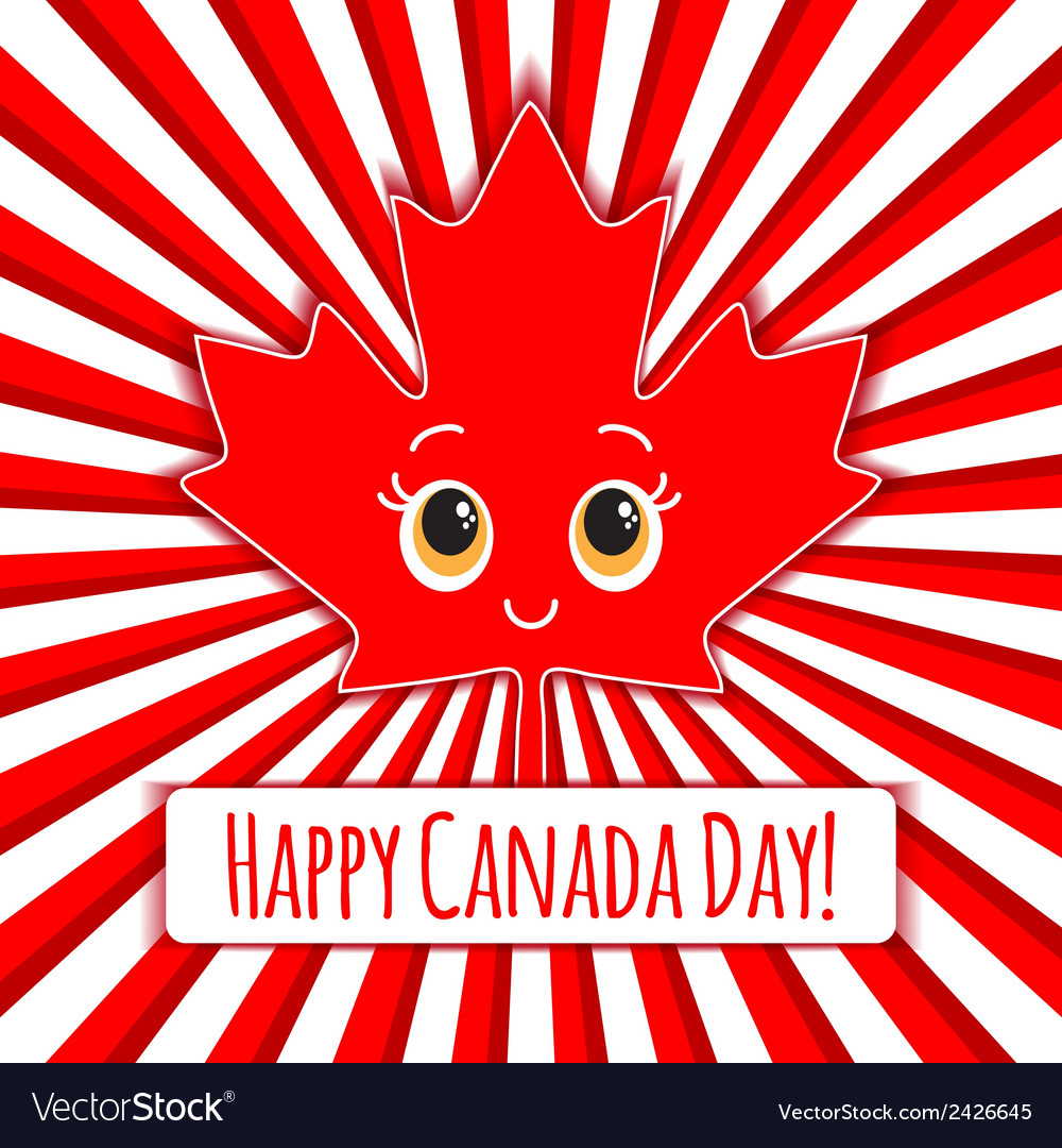 Happy canada day card vector | Price: 1 Credit (USD $1)