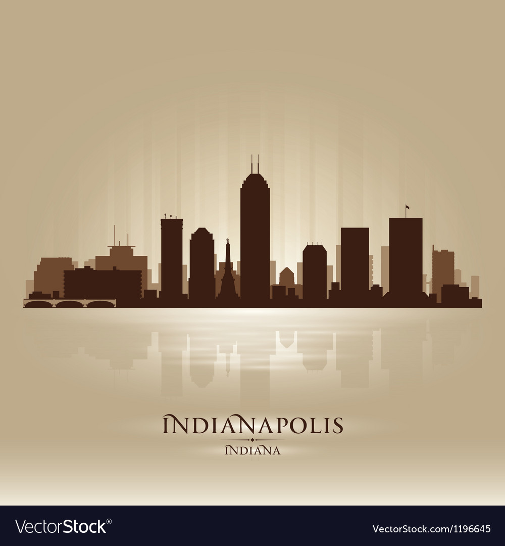 Indianapolis indiana skyline city silhouette vector | Price: 1 Credit (USD $1)