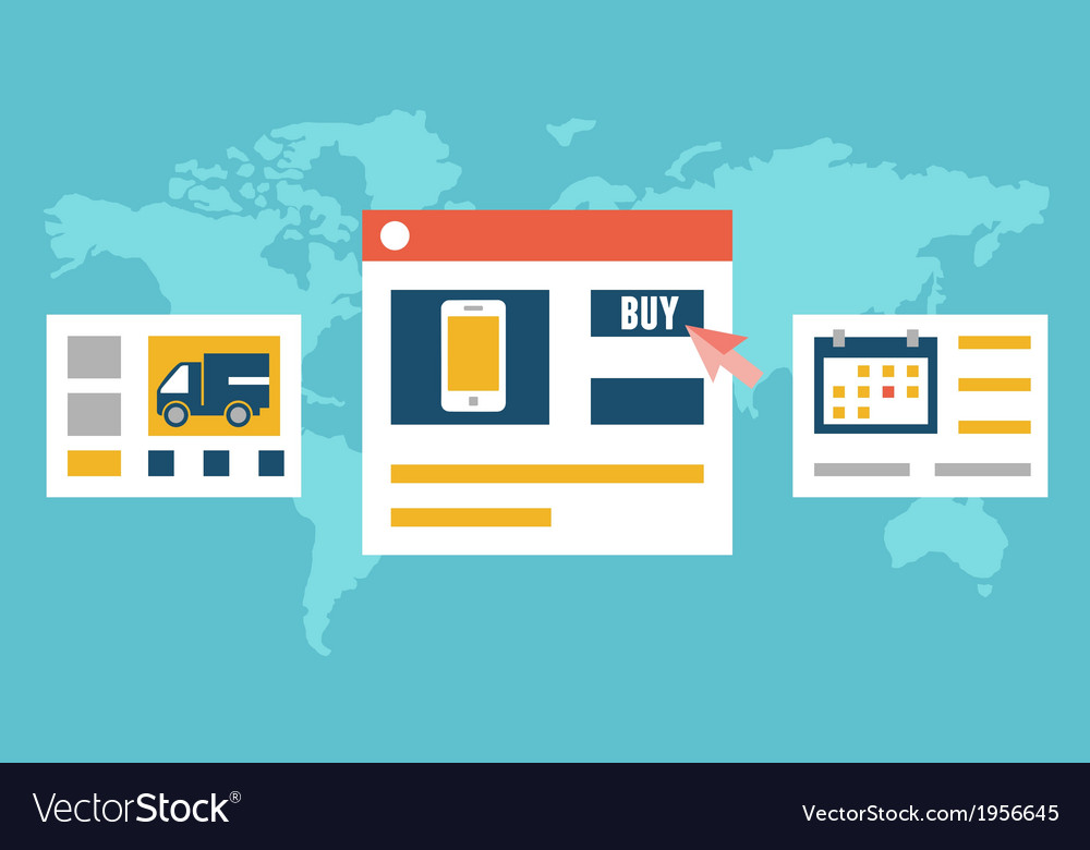 Internet order and delivery vector | Price: 1 Credit (USD $1)