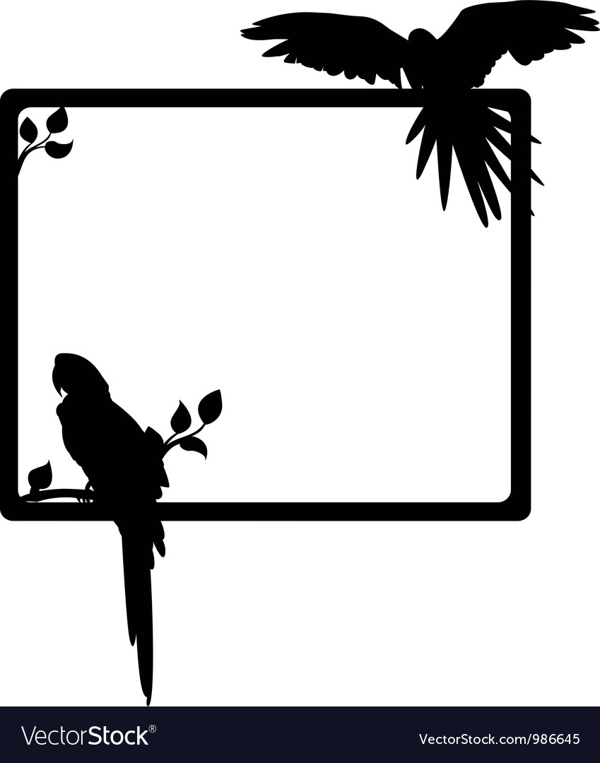 Macaw silhouette vector | Price: 1 Credit (USD $1)