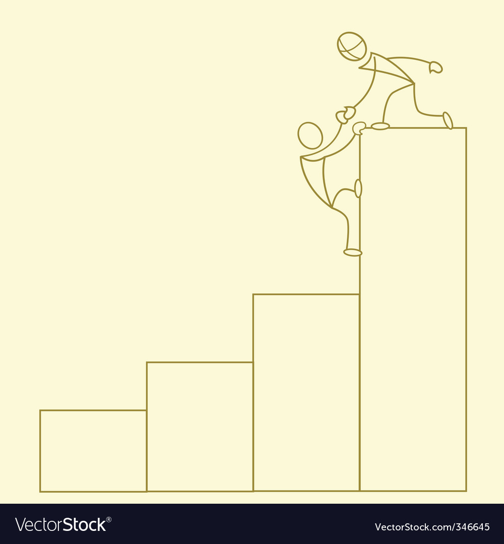 Sketchy business growth graph vector   Price: 1 Credit (USD $1)