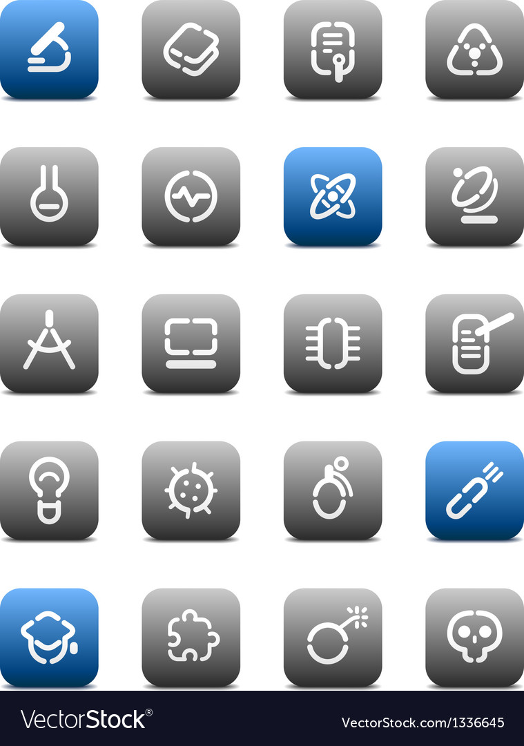 Stencil matt buttons for science vector | Price: 1 Credit (USD $1)