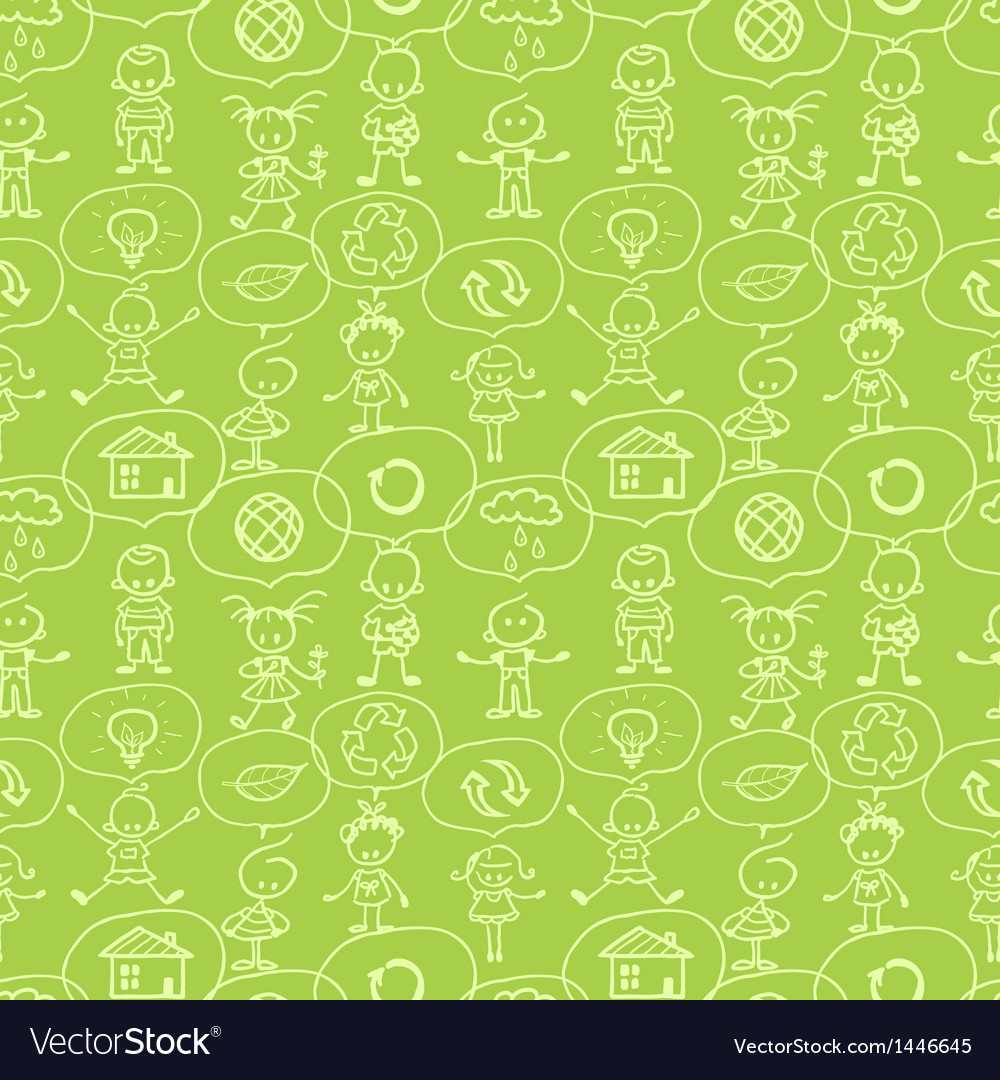 Think about earth seamless pattern background vector | Price: 1 Credit (USD $1)