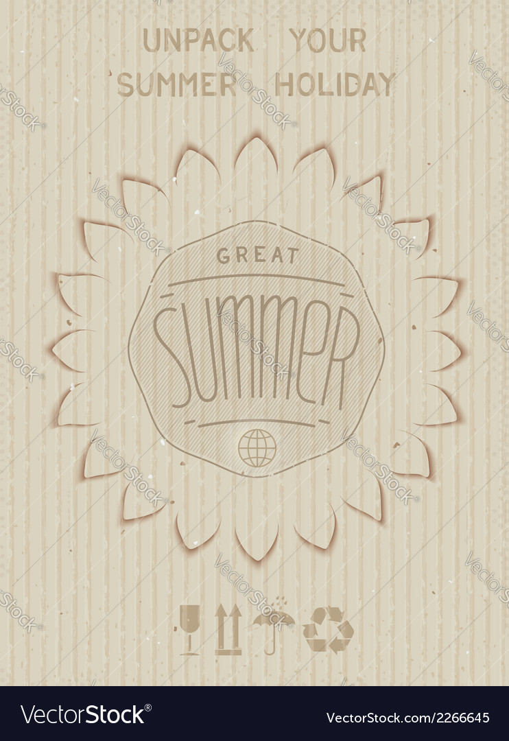 Unpack your summer holiday design vector | Price: 1 Credit (USD $1)