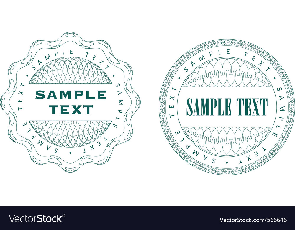 A set of guilloche seal vector | Price: 1 Credit (USD $1)