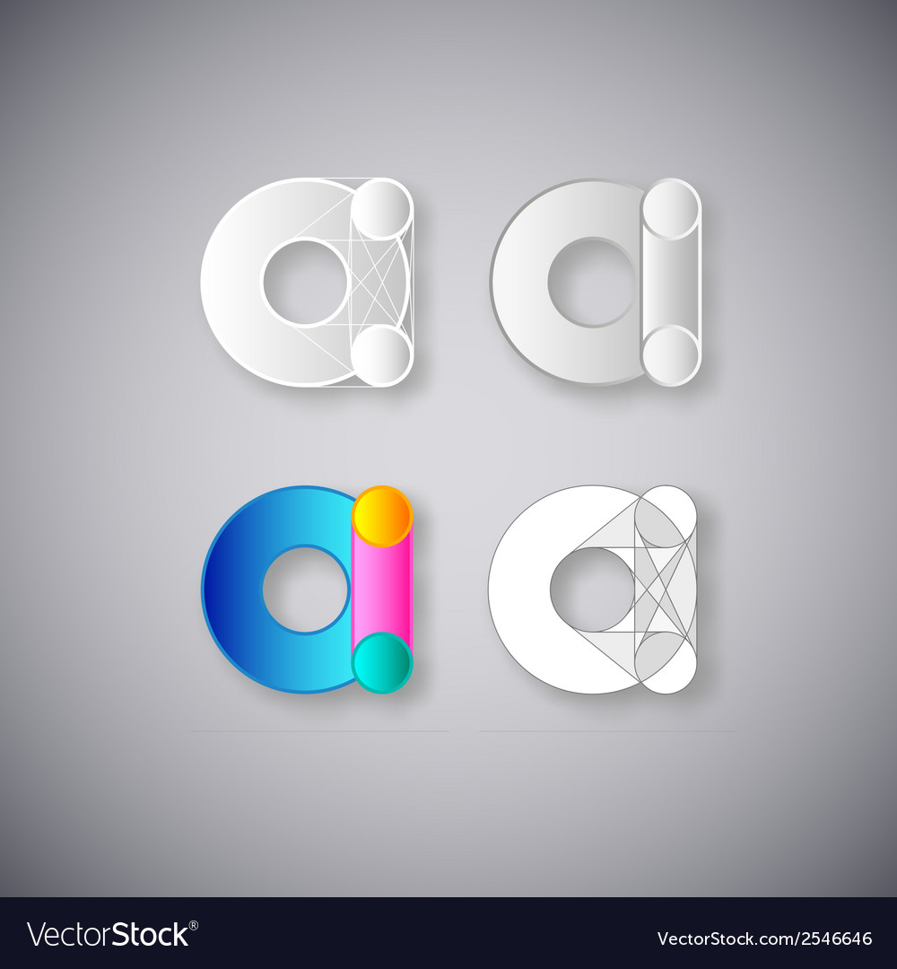 Abstract combination of letter a vector | Price: 1 Credit (USD $1)