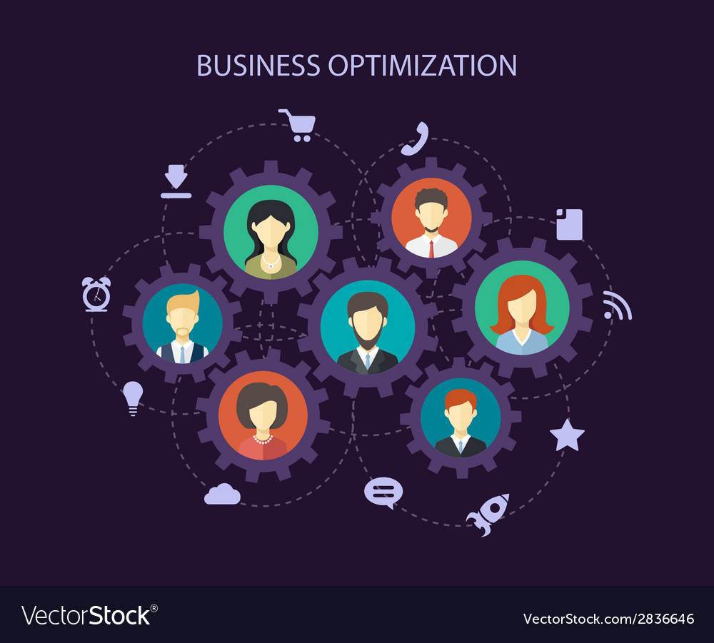 Abstract people business composition vector | Price: 1 Credit (USD $1)