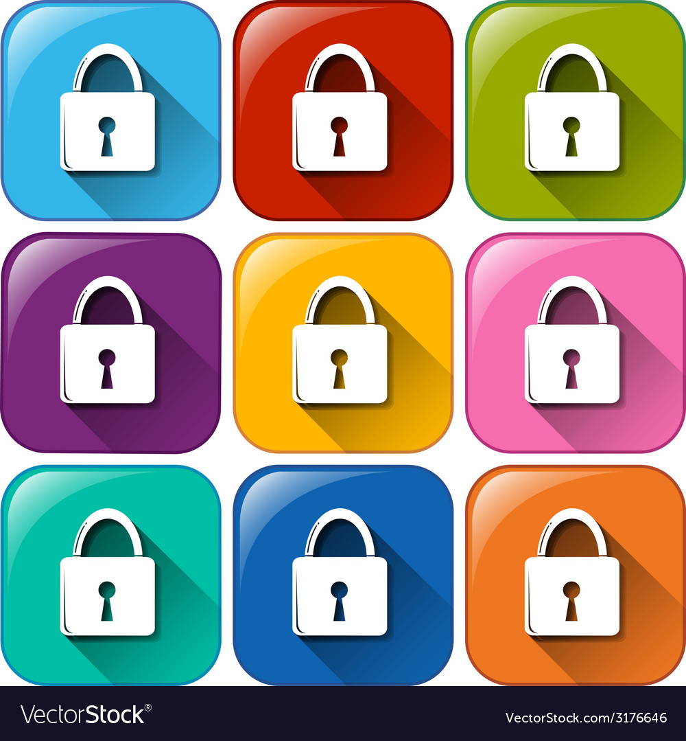 Buttons showing the padlocks vector | Price: 1 Credit (USD $1)