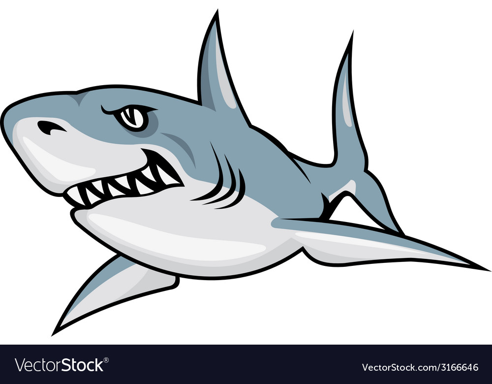 Cartoon shark vector | Price: 1 Credit (USD $1)