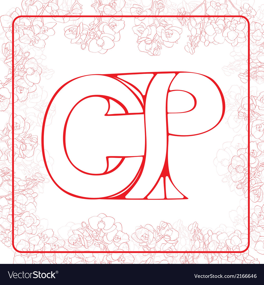 Cp monogram vector | Price: 1 Credit (USD $1)