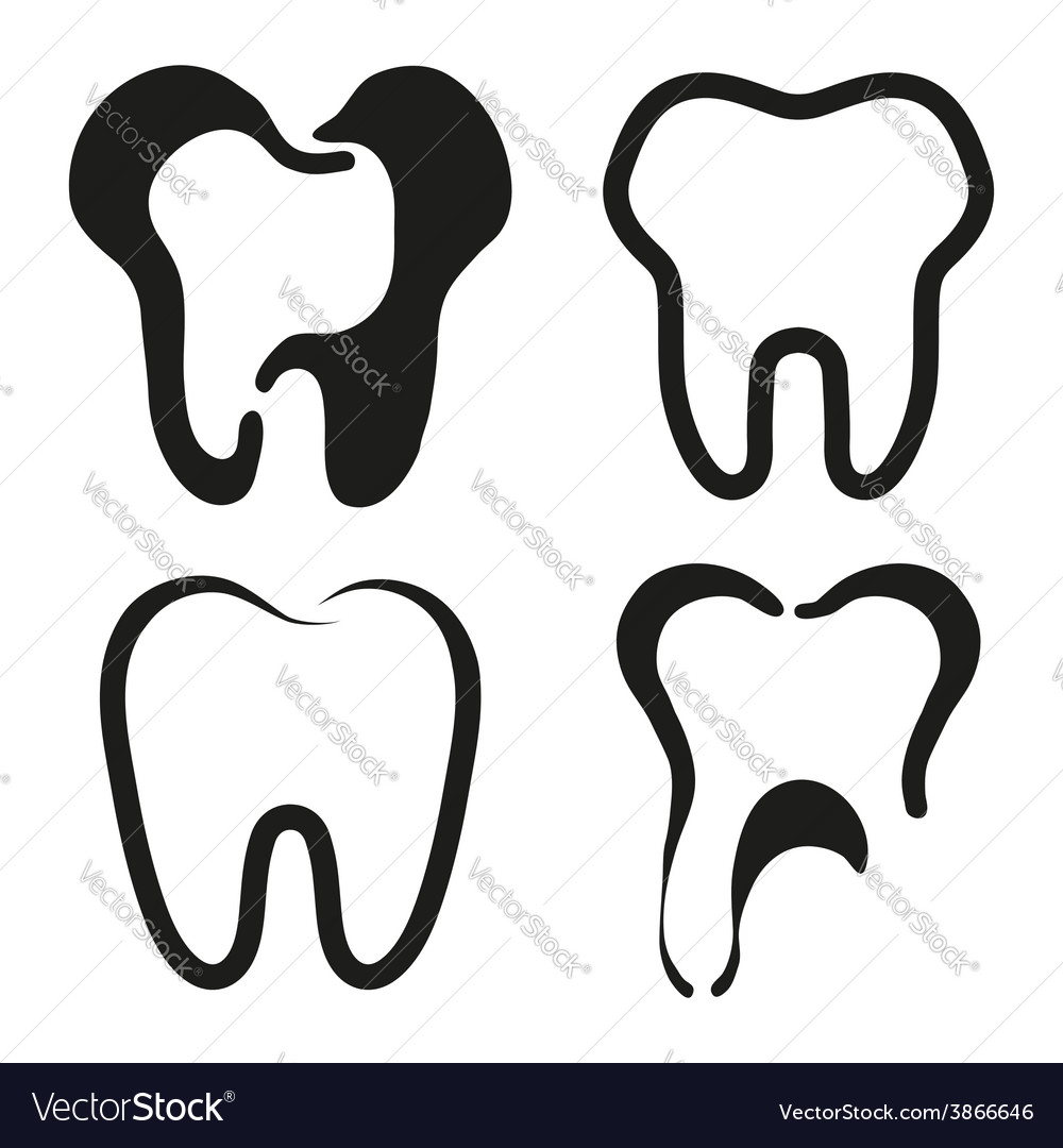 Set of dental icons vector | Price: 1 Credit (USD $1)
