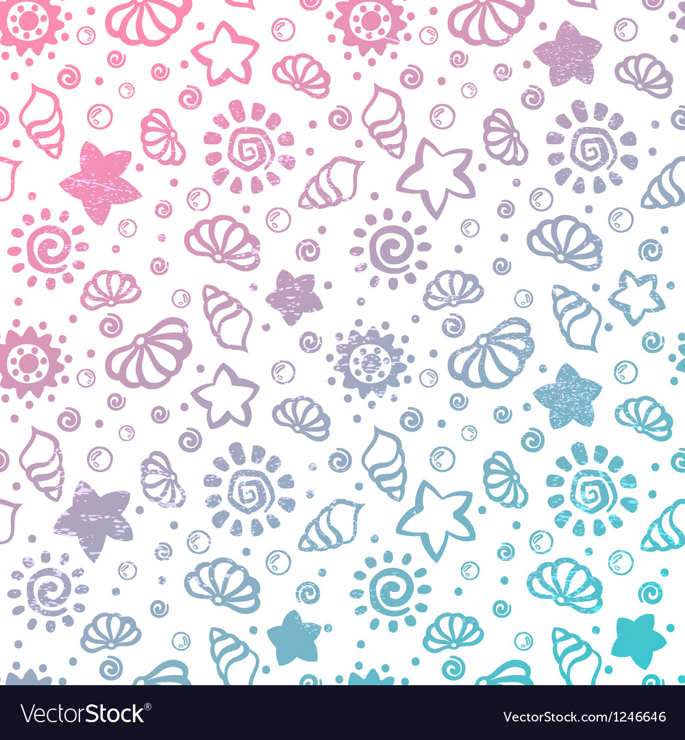 Summer shell pattern vector | Price: 1 Credit (USD $1)