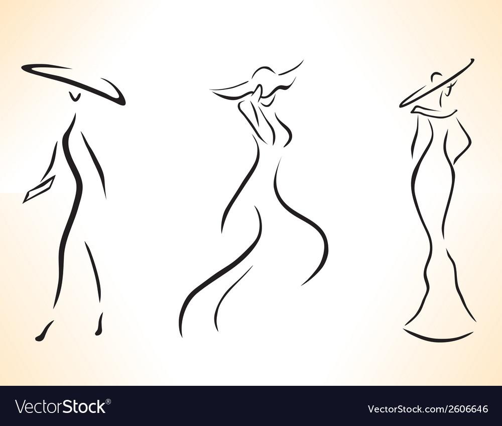 Symbolic stylized woman vector   Price: 1 Credit (USD $1)