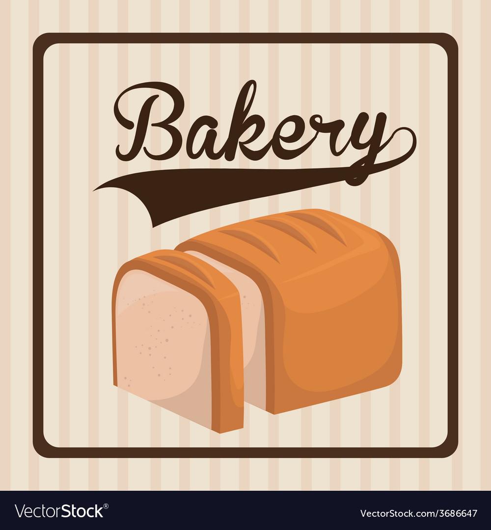 Bakery design over beige background vector | Price: 1 Credit (USD $1)