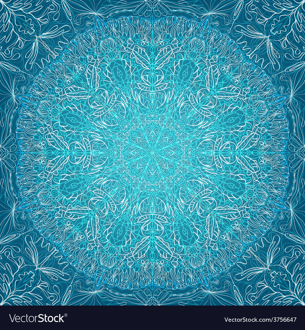 Blue lace background vector | Price: 1 Credit (USD $1)
